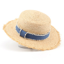 Women Summer Flat Sun Hats Ladies Holiday Natural Raffia Straw Hat Beach Caps Sombreros Mujer Verano Fedoras(China)