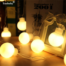 Tanbaby 5CM Big Ball LED String Light Christmas 5M Globe Balloons Fairy String Garland Outdoor New Year Wedding Starry Light(China)