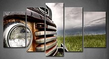 5 Panel Wall Art Old Vintage Truck On The Prairie Painting Pictures Print On Canvas Car The Picture For Home Modern Decoration(China)