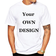 Your OWN Design Brand Logo/Picture White Custom T Shirt Men Plus Size Clothing(China)