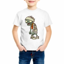 Buy 2018 Children Plants Vs Zombies Print Funny Girls/Boys T-Shirts Kids Summer Tops Short Sleeve Clothes Game Baby T shirt 55C-1 for $4.89 in AliExpress store