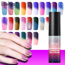 Ellwings 29 Colour Chameleon Temperature Change Gel Varnish UV Lamp Nail High Quality Gel Polish Colorful Gel Nail Polish