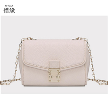 XIYUAN BRAND women pink leather handbags girls white messenger bags blue shoulder bag bolsas high quality handbag female pouch