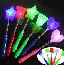 LED flashing light up sticks glowing rose star heart magic wands party night activities Concert carnivals Props birthday Favor