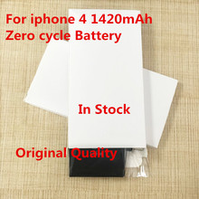 5 PCS New High quality 3.7V 1420mAh Internal Li-ion Battery Mobile Phone Replacement Batteries For Apple iPhone 4 Battery