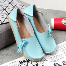 New Women Real Leather Shoes Moccasins Mother Loafers Soft Leisure Flats Female Driving Casual Footwear Size 34-44 In 19 Colors