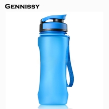 GENNISSY 600ml Water Bottles Leak-proof and Dust Free Lid Bicycle Camping Sport Plastic Drink Bottle BPA Free Water High-grade