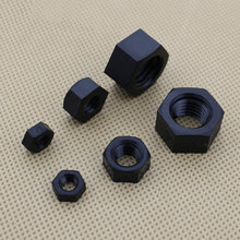 100Pcs M8 B Black Nylon Hex Nut DIN944 Plastic Hexagon Nuts Metric Plastic Free Shipping