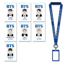 Youpop KPOP BTS Bangtan Boys Album Student Name Badge Holder With Cotton Neck Lanyard Office & School Supplies GHP001(China)