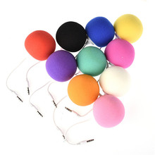 Mini Speaker 3.5mm Jack Aux Audio Plug Mini Wired Speaker Music Sponge Ball Speaker 3.5mm for Smart Mobile Phone Tablet MP3 MP4