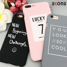 EKONE Lovely Funny Words Case For iPhone 7 Plus 6 6S Plus 5 5S SE 8 Plus Case Plastic Lucky 7 Cool Cover For iPhone 7 Case