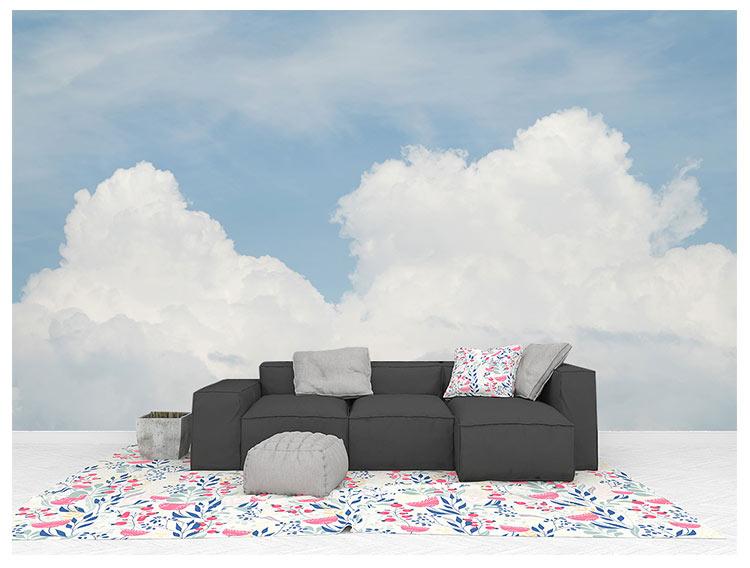HTB13EiUfkomBKNjSZFqq6xtqVXaY - Pink Sky Cloud 3d Cartoon Wallpaper Murals for Girls Room