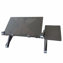 Adjustable Portable Laptop Table Stand Lap Sofa Bed Tray Computer Notebook Desk bed table with Mouse Table ZW-CD04(China)