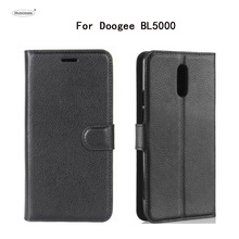 "Buy HUDOSSEN Doogee BL5000 Luxury Flip Case PU Leather Back Cover Coque Doogee BL5000 5.5"" Protective Phone Housing Para for $3.99 in AliExpress store"
