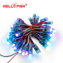 Hello Fish 12mm WS2811 Full Color Pixel Module DC5V IP68 Waterproof Point Lights For Advertisement 50pcs/ lot Free Shipping(China)