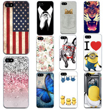 Cool Dog With Glasses Phone Case For iPhone 4 4S 5S 5 SE 5C 6 6S Personality Cat TPU Phone Skin For iphone4 5s 5c 6s Soft Case