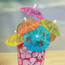 12pcs Printed Paper Umbrella Tropical  Parasol Umbrella Snack Cocktail Party Drinks Picks Straws Party Bar Wedding Decorations