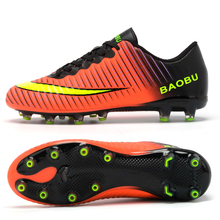 New Arrival Men's Adults Professional Outdoor Soccer Cleats Firm Ground Soccer Shoes Football Trainers Athletic Sneakers(China)