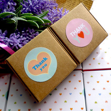 "100PCS Cute Creative ""Thank You"" Gift Decor Stickers,Bakery Cookie Packaging Bag Lamination Paper Seal Labels"