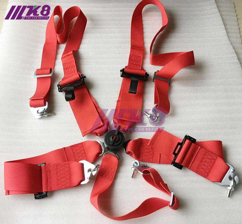1e0a62562b29 3 pouces 5 points voiture auto course sport ceinture ceinture de sécurité  harnais de course 2 + 3 boucle en aluminium 5 points authentification