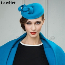 Fancy Womens Wool Felt Fascinator Cocktail Hats Wedding Event Party Dress Hats for Women Ladies HatsA242