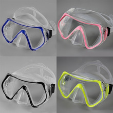 Children Diving Swimming Mask Plain Glasses Tempered Glass Lens Snorkeling In Stock