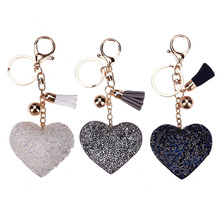 Lovely Cute Charming Bling Pendent Crystal Key-chain Women Key Holder Car Key-ring Charm Gift with Wholesale Price Porta Chaves(China)