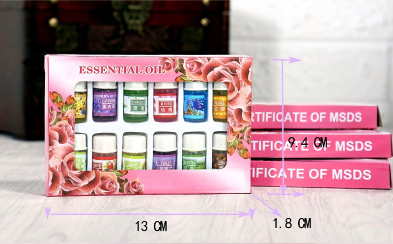 Dimollaure 12 Kinds of Fragrance Essential Oil Pack for DIY Aromatherapy Humidifier Fragrance lamp Purifying air Jasmine Oil 15