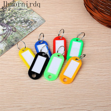 100Pcs cheap plastic keychain tags plastic key chain tags personalized with custom name wholesale lot hotel keychain tag(China)