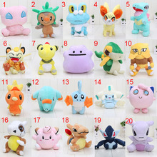 20 different styles 11-18cm Pocket doll Ditto Meowth Snivy Phanpy Torchic Jirachi Froakie Mudkip Plush Toy Soft Doll Toy