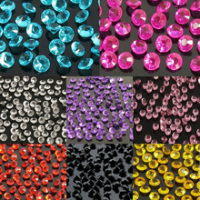 2000pcs Mixed color Acrylic Crystal Diamond 4.5mm Crystal Gem Party wedding table decoration desktop decortion