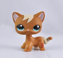 Littlest Pet Short Hair Cat Animal child girl boy figure loose cute LP846(China)