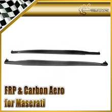 4pcs Car Styling For Maserati Gran Turismo DXC Style Carbon Fiber Side Skirts