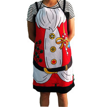 Saingace Christmas Cooking Apron Hot Selling Fashion 60*75cm Christmas Printing Oldman Apron Whimsy Novelty Gift Kitchen Apron(China)