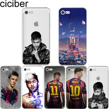 ciciber Neymar Messi Football Soccer Soft Silicon Phone cases cover For iPhone 6 6S 7 8 plus X 5S SE Barcelona Fundas Capa(China)