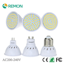 LED SMD 2835 E27 GU10 MR16 48led 60led 80led Bulb Lamp  Lamparas LED AC220V Spotlight lampada de led Cold / Warm White