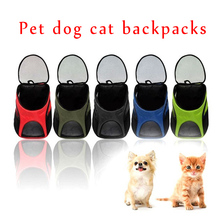 Portable Travel Dog Cat Backpack Breathable Puppy Double Shoulder Bags Outdoor Small Pet Carrier Bag Pets Supplies TB Sa
