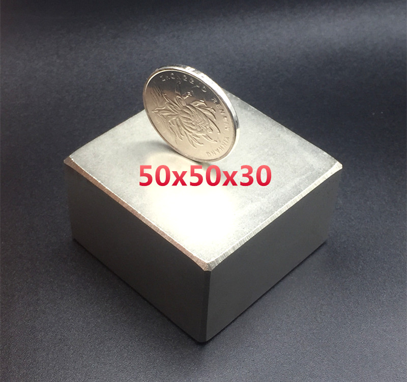 Бесплатная доставка 1 пк 50*50*30 мм магнит холодильника блока Супер Стронг-Сквер редкая земля неодимовые магниты N50 50x50x30 мм