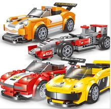 2017 NEW Racing Car Toys Building Brick Boys Car Toys Best Kids Promotion Toys Gift