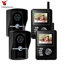 "YobangSecurity 2.4G 2.4""TFT Wireless Video Door Phone Doorbell Home Security Intercom With Recording function 2 Monitor 2 Camera"