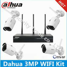 original Dahua 3MP Wi-Fi Kit: 4channel Wifi NVR4104HS-W-S2 & 4 pcs 3MP WIFI Gun camera IPC-HFW2325S-W