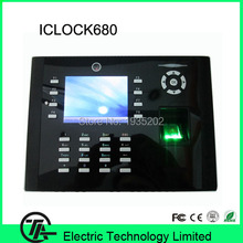 Linux system iclock680 IC card fingerprint time attendance and access control system fingerprint door lock TCP/IP communication(Hong Kong)