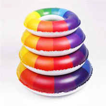 Odd shells swimming ring children / two generation adult rainbow pattern thickening buoy swim ring No. 70