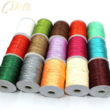 1mm Waxed Cotton Cord Waxed Thread Cord String Strap Necklace Rope DIY Jewelry Making