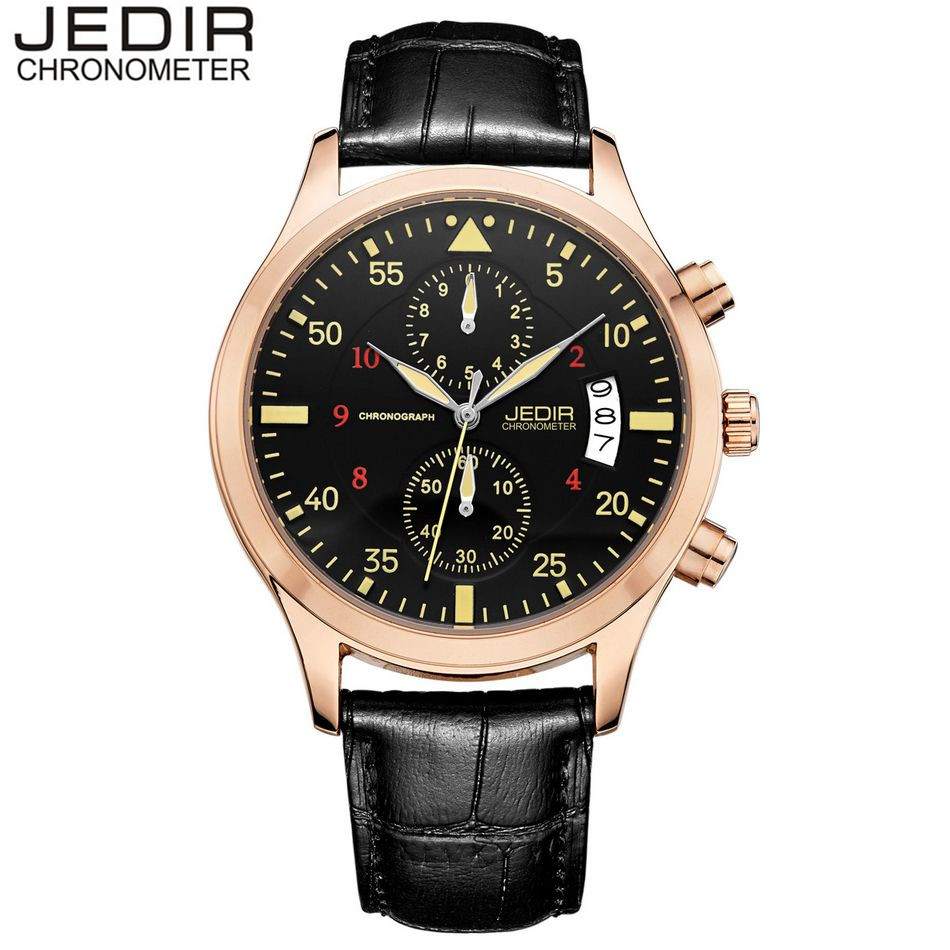JEDIR Casual Mens Stop Quartz Day Watch Brand Military Sports Relogio masculino Gift Box Free Ship Free Ship<br><br>Aliexpress