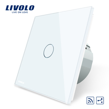 Livolo EU Standard Wireless Switch 1Gang 2 Way, AC 220~250V ,With Remote Function,C701SR-1/2/3/5,no remote controller(China)