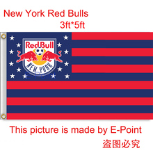 USA MLS New York Red Bulls hanging decoration Flag 3ft*5ft (150cm*90cm)(China)
