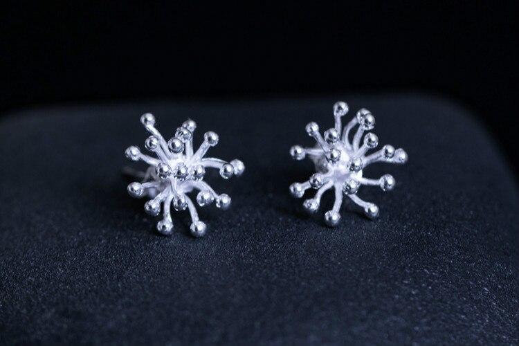 925 Sterling Silver Dandelion Love Stud Earrings Jewelry For Women Girls Present