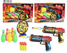 Soft Bullet Toy Gun Paintball Pistol CS Game with Bowling and Target Nerf Air Gun Boy Toy Plastic Gift Kids