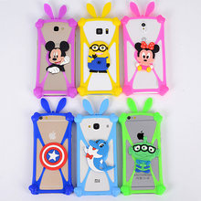 HOT Silicon Cartoon Minnie Minions Stitch Bear Doraemon Soft Phone Back Skin Cover Case For Wiko Sunny Free Shipping Universal